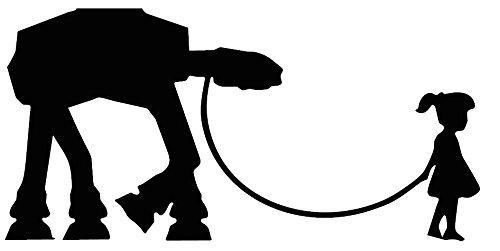 """Preisvergleich Produktbild Banksy-Mädchen """"Krieg der Sterne-Hündchen"""", Maße: 15,2x 7,6cm, Aufkleber für Auto, Lieferwagen, Motorrad, Van-Biker-Aufkleber, Frei P & P."""