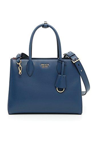 Prada Borsa Shopping Donna 1Bg0952aixf0s2k Pelle Blu Rosso ... 7c28d8d37c9