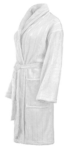 Brandsseller Bademantel Morgenmantel Saunamantel für Damen & Herren - Größe: S - Farbe: Weiß