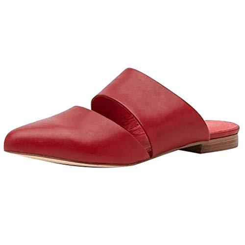 YEARNLY Damen Plateaupantoffeln Slingback Pantoletten Sandalen Elegante Spitze Freizeitschuhe Schwarz, Rot, Beige, Kaffee EU35-43