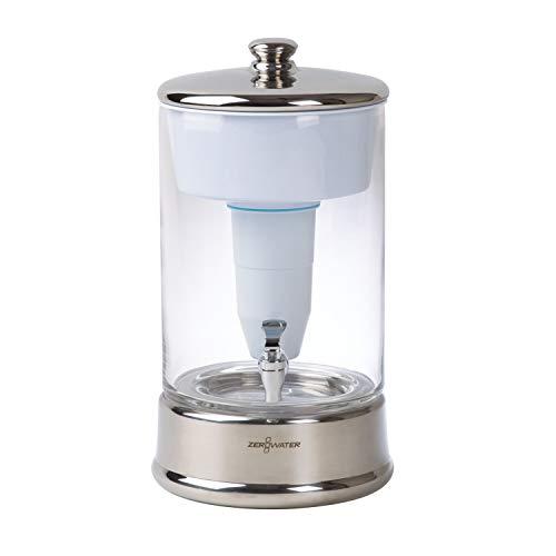 9 Liter Wasserfiltersystem aus Glas, mit kostenlosem Wasserqualitätsmessgerät   BPA-frei und zertifiziert zur Reduzierung der Menge von Blei und anderen Schwermetallen   Wasserfilterpatrone inklusive