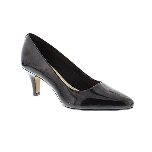 Clarks isidora Faye Womens Breiten APPLELOVE Pumpen 6.5 D (M) UK/40 EU Schwarz Lack (Leder Schwarz Patent Frauen Schuhe)