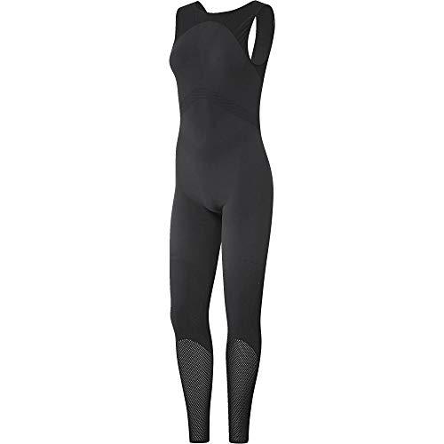 adidas Warp Knit Onesie Damen Einteiler Carbon/Black, M