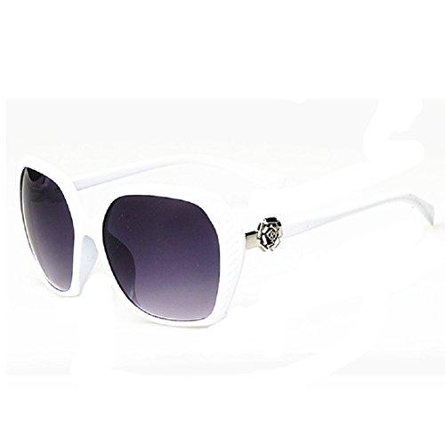 O-C Damen Sonnenbrille Weiß Weiß