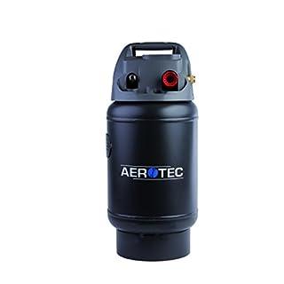 Aerotec 2009592 Mobiler Drucklufttank TANKY | Zusatztank mit 14l Volumen | universell passend zu handelsüblichen Kompressoren | Druckregler bis 10 bar Schwarz