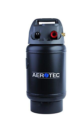 Aerotec 2009592 Mobiler Drucklufttank TANKY | Zusatztank mit 14l Volumen | universell passend zu handelsüblichen Kompressoren | Druckregler bis 10 bar, Schwarz -