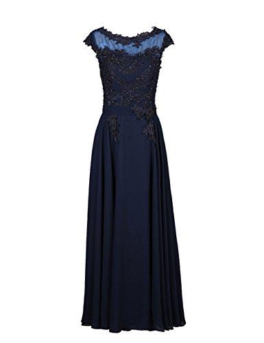 Dresstells, Robe de soirée robe de cérémonie robe de gala col rond longueur ras du sol Bordeaux