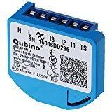 Qubino ZMNHDD1 Flush Dimmer Unterputz-Mikromodul EU Z-Wave Plus, Schwarz, Blau