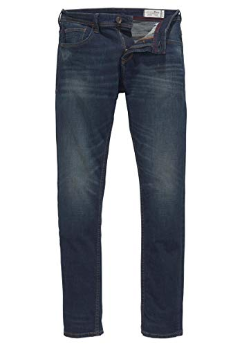 Tom Tailor Denim (NOS) Herren Slim Jeans Super Piers, gewaschen, Blau (Dark Stone Wash Deni 10282), W33/L32 (Herstellergröße: 33)