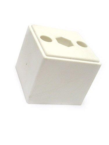 bum24 - 4er Set Kunststoff-Vierkant-Möbelfuß 50 x 50 x 45 mm weiß (Kunststoff-möbelfuß)