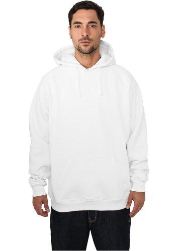 Urban Classics Sweatshirt, Hoodie Herren, Kapuzenpullover einfarbig (Pullover in vielen Farben erhältlich, ausgestattet mit Kapuze und Bauchtasche) White