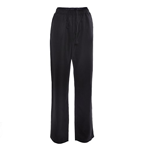 SurePromise - Schwarze Unisex-Hose mit elastischer Taille, für Schönheitssalons, Nagelstudios, Medizinische Betriebe, Krankenhäuser - Medizinische Elastische