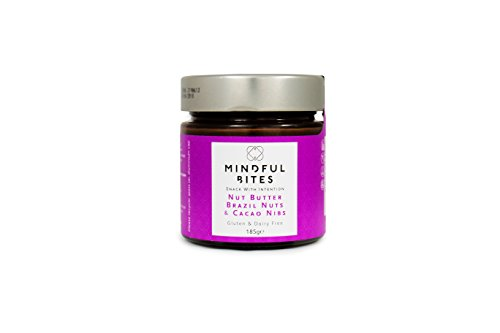 Price comparison product image MINDFUL BITES Nut Butter Jar, Brazil Nut and Cacao Nibs, 185 g