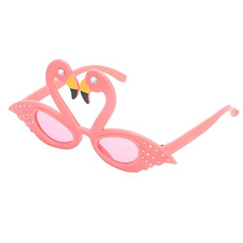 Amosfun Flamingo Sonnenbrille Hawaiian Party Brille Strand Tropische Luna Themed Party Foto Eyewear Requisiten Pink
