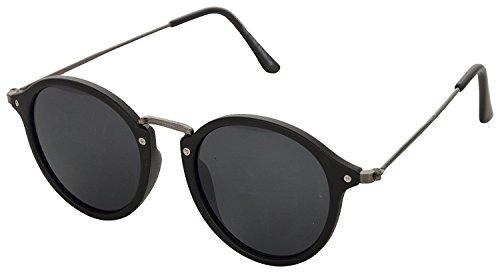 Faddish Gradient Round Unisex Sunglasses (BO60BGYBGPTO|50|Black)