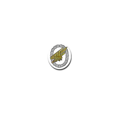 Aufkleber / Sticker - Fallschirmjäger Luftlandetruppe Bundeswehr Luftwaffe Deutschland Fallschirm Militär Adler Wappen Abzeichen Emblem 6x7cm #A4102 (Fallschirm-aufkleber)