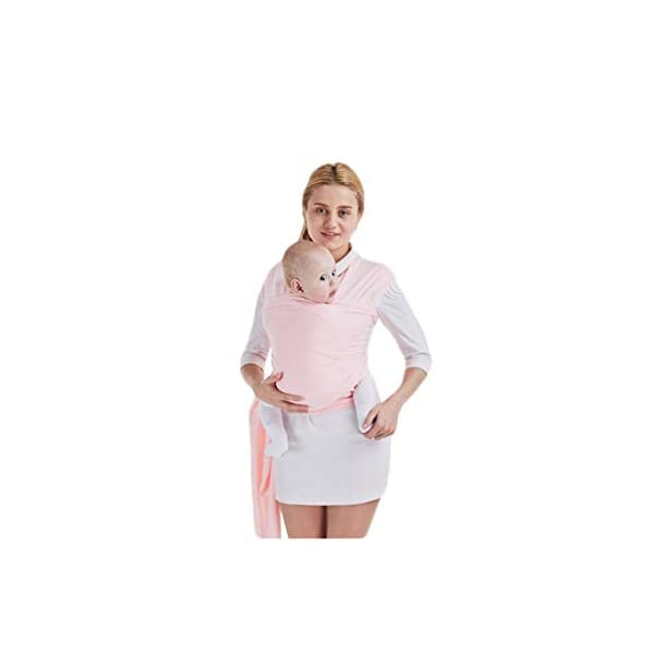 AniKigu Baby Wrap Carrier for Baby Newborn Within 16 KG, Gift to The New Mum, Ideal for Breastfeeding, Multifunctional Back Method, Light and Breathable, Soft Cotton and Comfort Spandex, 0.58Mx5.3M AniKigu Use 95% cotton and 5% spandex in a high quality material Say goodbye to shoulder pain and back strain; The baby wrap carrier surrounds you and your baby's spine, making it easy to counteract the baby's weight with your back; No longer get tired or get any sore muscles Stay close to mom's heart, a baby can hear your heart beating and feel the warmth from your body in the sling where he can feel peace of mind 1