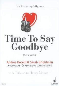 TIME TO SAY GOODBYE / CON TE PARTIRO - arrangiert für Einzelausgabe [Noten / Sheetmusic] Komponist: BOCELLI ANDREA