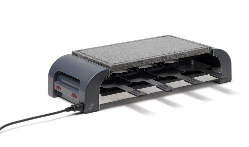 Stöckli grill pizza max8hot 'stone, nero, piastra in granito, minipizzas raclette grill aden, 8persone, 2800.02hs