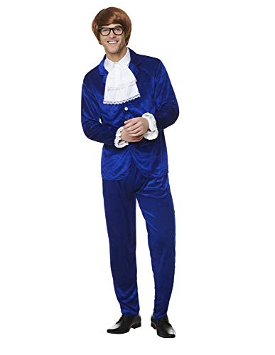 Karnival 82239 1960 's Kostüm Mr Mojo, Herren, Blau, extra groß (1960's Mens Fancy Dress Kostüm)