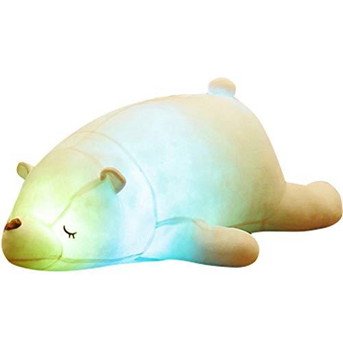 Kingee-t peluche, orsetto polare incandescente, glitter, morbido e confortevole e caldo, il miglior regalo di natale/san valentino/compleanno,70cm