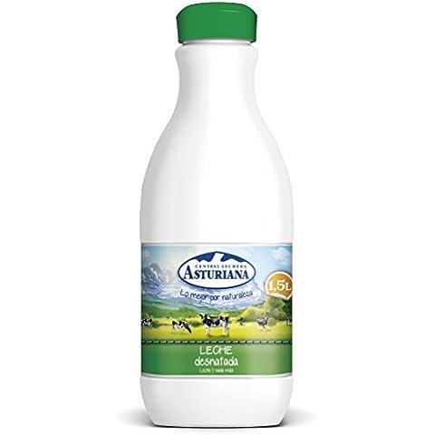 Central Lechera Asturiana Leche Desnatada - Paquete de 6 x 1500 ml - Total: 9000 ml