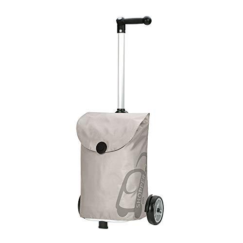 Andersen Shopper Unus mit Tasche Pepe 49 Liter silber