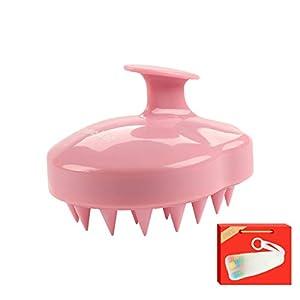 HomeMall Kopfhaut Massage Bürste, Kopfhaut Massagegerät Massage Shampoo Pinsel Weiches Silikon Kamm für Haustiere Männer und Frauen kopfhautpflege,Pink