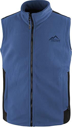 normani Herren Fleeceweste mit Reißverschlusstaschen und Stehkragen - warm, leicht 280 g/m² - ZIP-T3K System Farbe Navy/Schwarz Größe M