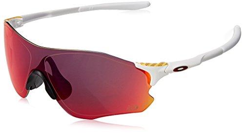 Oakley Herren Evzero Path 930819 38 Sonnenbrille, Weiß (Matte White/Prizmroad),