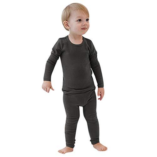 Amphia - (2T-7T Heimbekleidung für Kinder - Langarm-Top + Hosen-Pyjama-Set - Kleinkind Baby Jungen Mädchen lang ÄrmelSolid Tops + Hosen Pyjamas Nachtwäsche Outfit