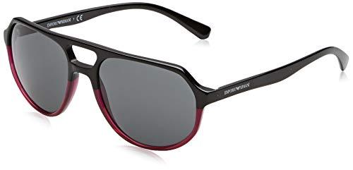 Emporio Armani Herren 0EA4111 Sonnenbrille, Mehrfarbig (Bordeaux), 57