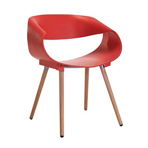 GLJ Home Stuhl Kunststoff Rückenlehne Computer Stuhl Moderner Stuhl Freizeitstuhl Multi-Color Optional 76x46x49cm Barhocker (Color : Red) - Moderner Kunststoff-stuhl
