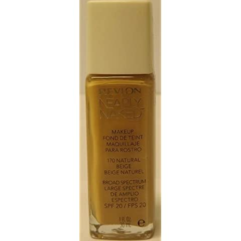 Nearly Naked Foundation SPF 20 by Revlon Natural Beige 30ml by Revlon