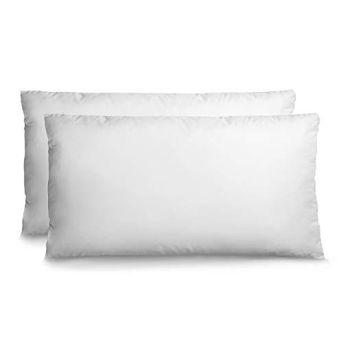 Traditionelle Kleinkind Bett (2er Set Kopfkissen Anpassbar (40 x 80 cm) mit Aufbewahrungstasche - Kein chemisches Produkt (OEKO-TEX) - Orthopädisches Kissen Für Alle Schlafpositionen Geeignet - Reißverschluss - 3 Jahre Garantie)