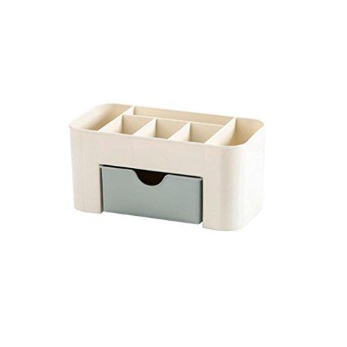 HARRYSTORE Q-tip Aufbewahrungs Box Acryl Kosmetik Stock Halter Speicher Wattestäbchen Abstrich Organizer Box (Blau) (Leder-lippenstift-halter)