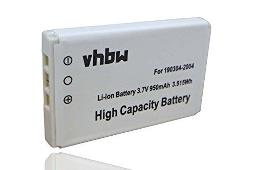 vhbw Li-Ion Akku 950mAh (3.7V) für Universal Fernbedienung Logitech Harmony 720, 785, 880, 900, Advanced, One, Plus, Harman Kardon TC30 wie 190304-200 - Harmony-universal-fernbedienung