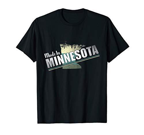 Vintage Minnesota Retro State Flag Souvenir Geschenk T-Shirt -