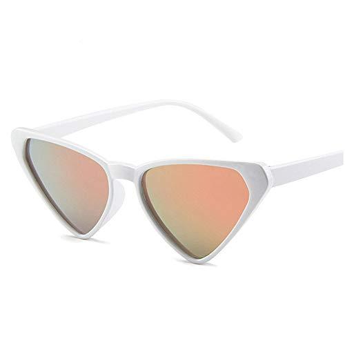QDE Sonnenbrillen Triangle Sonnenbrillen Brillenmodelle Damen Sonnenbrillen Wilde Sonnenbrillen, Weiß Rosa