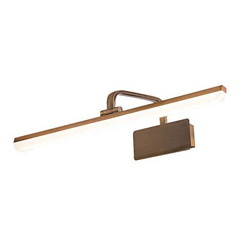 Spiegelscheinwerfer LED Schminkspiegel Licht - Braun Bronze Retro Badezimmer Eitelkeit Lampe Spiegel Make-up Lampe Badezimmer Beleuchtung Kit, 240-Grad-Drehung Anpassung, warm-weißes Licht [E -