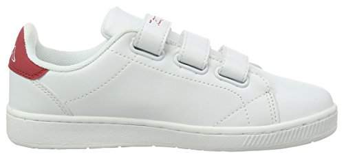 Blanc Bianco Corte 1020 Adulte Mixte Bassi Sneakers Rosso Velcro Kappa TP1xwq6Rn