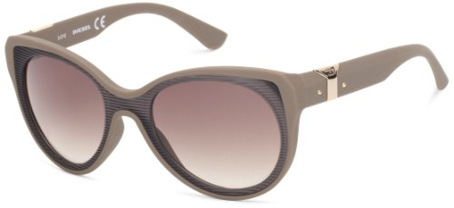Diesel Unisex DL0032 Sonnenbrille, Light & Dark Brown / Gradient Green, Gr. One size