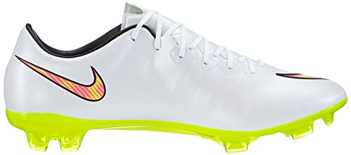 Nike mercurial vapor X FG chaussures de football pour homme Weiß (White/Volt-Hyper Pink-Black)