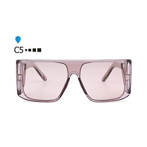 ZHENCHENYZ Retro Big Square Frame Herren Sonnenbrille Oversize Black Visor Sonnenbrille Männer Shades für Frauen