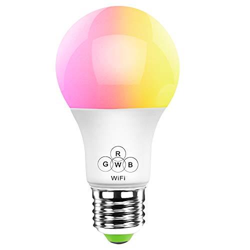 HaoDeng Smart LED Lampe WIFI Beleuchtung, Sonnenuntergang/Sunset Wecker, dimmbar mit Amazon Alexa, Ifttt, Google Home Energiesparlampen, Sunrise Sonnenuntergang 16 Mio Farbige Leuchtmittel E27 Bulbs für Android und IOS [Energieklasse A+]
