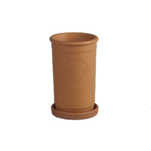 Weinkühler Terracotta mit Untersetzer