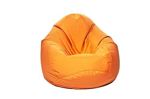 Jumbo Bag 29151-42 Scuba Pouf Poire Polyester Orange 80 x 80 x 130 cm Taille XXL