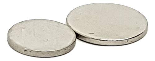 Münze Neodym seltenes Erd- Testen Magnet 8mm & 10mm 1mm Silber/Gold testen