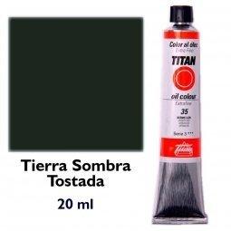 ÓLEO TIERRA SOMBRA TOSTADA TITAN Extrafino 6 - 20ml. Nº 78