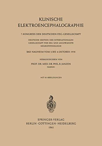 Klinische Elektroencephalographie (German Edition)